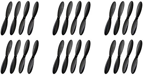 6 x Quantity of Micro Drone Quad Rotor H107D-02 Plus Propeller Blade Set All Black Props Propellers Blades Quadcopter Parts - FAST FROM Orlando, Florida USA!   Soldes
