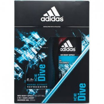 adidas Ice Dive 150 ml Deo Body Spray / 250 ml Shower Gel , 1er Pack (1 x 150 ml)