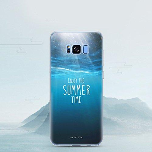 Samsung Galaxy S8 (5,8 zoll) Schutz Hülle Case in wunderschönem Design Weiches transparentes TPU Landschaft Handyhülle Mountain Berg und Sonne Wolken und Alpen mit Schnee Handy Etui mit Motiv Gel Bump Pattern 06