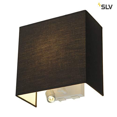 SLV ACCANTO SPOT SQAURE Indoor-Lampe Textil/PS/Stahl Schwarz Lampe innen, Innen-Lampe