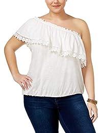 24384765da3 American Rag Trendy Plus Size Crochet-Trim One-Shoulder Top