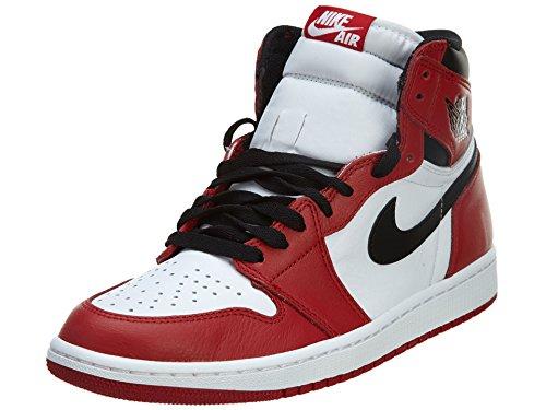 Nike Air Jordan 1 Retro High Og, Scarpe sportive Uomo Bianco / Nero / Rosso (White / Black-Varsity Red)