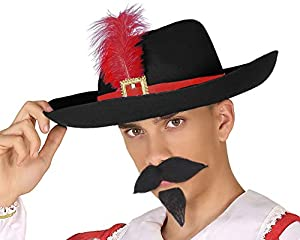 Atosa-63531 Atosa-63531 - Accesorio para disfraz de mosquitos y sombrero, adulto, unisex, 63531, color negro, talla única