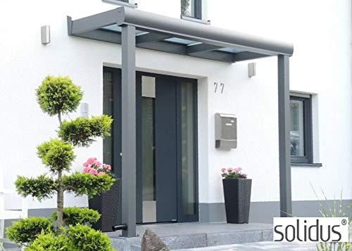 306 x 150 cm solidSMART Aluminium Haustür Vordach mit 8mm VSG/Glas - 3 x 1,5 m Komplett-Set - Jedes Maß möglich ! Alu Dach