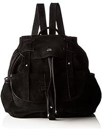 Mila Louise - Omeo Croute Noir, Bolsos mochila Mujer, 13x30x35 cm (W x H L)
