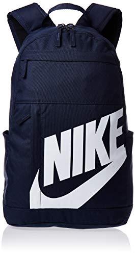 Nike nk elmntl bkpk-2.0, zaino sportivo unisex - adulto, obsidian/obsidian/white, misc