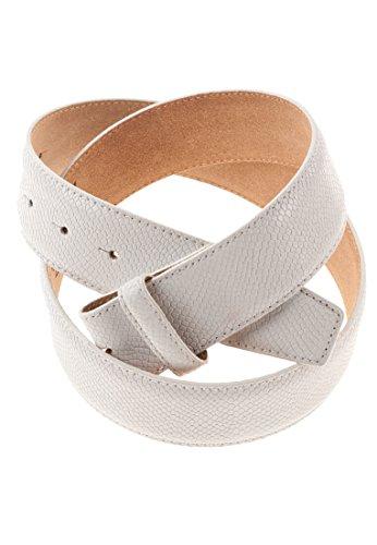 VMP Gürtel aus Leder mit Reptil-Prägung Ryder Lux, Größe:95, Farbe:Weiß-011(AMN984)