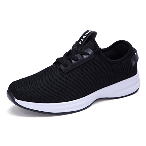 Unisex Air Mesh Breathable Running Shoes 9877 black