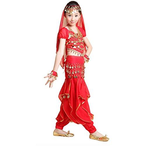 Girl Arabian Kostüm - Best Dance Mädchen Bekleidungsset Gr. M, rot