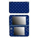 Disagu SF-106243_1039 Design Folie für New Nintendo 3DS XL - MotivKleine Anker - Dunkelblau Transparent