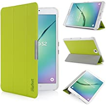 iHarbort® Samsung Galaxy Tab S2 8.0 Funda - ultra delgado ligero Funda de piel de cuerpo entero para Samsung Galaxy Tab S2 8.0 T710 , con la función del sueño / despierta, verde