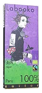 Zotter Organic 100 Percent Peru Dark Chocolate 2 x 32.5 g (Pack of 5)