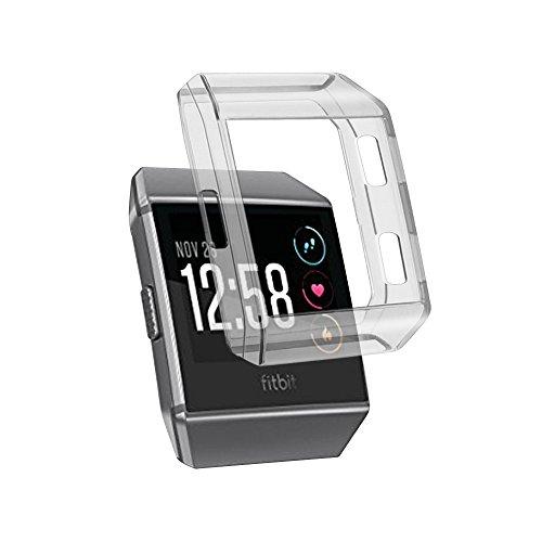 Fintie Fitbit Ionic Hülle, [Ultra-Dünn] Leichte TPU Weich Schutz Schutzhülle Gehaüse Abdeckung Zubehör für für Fitbit Ionic Smartwatch