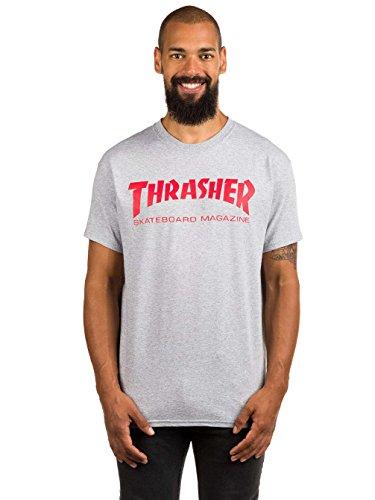 Trasher skatemag t-shirt grey/red (xl)