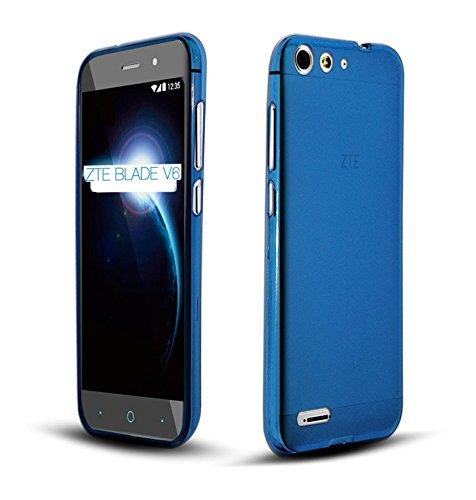 TBOC® Blau Gel TPU Hülle für ZTE Blade V6 Ultradünn Flexibel Silikonhülle