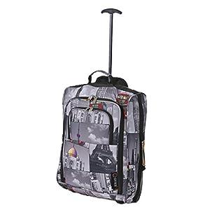 5Cities peso ligero equipaje de mano maleta equipaje de viaje Holdall Wheely Cabina Aprobado Bolsa Ryanair Easyjet y muchos más 40L Cities