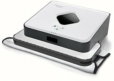 iRobot Braava 390t Bodenwischroboter (für mehrere Räume und große Flächen, Reinigt Flächen bis zu 92,9m²) weiß