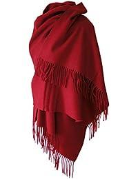 Echarpe étole chale en laine et cachemire grande épaisse et chaude