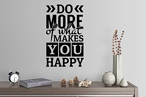"Wandaufkleber Wall Sticker quotes 38""x24"" Do More Of What Makes You Happy Subway Art Wall Decal Sticker Art Mural Home Decor Quote"