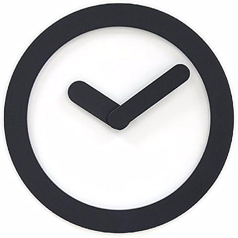 ZHGI Anillo simple moda relojes de pared Reloj de pared jardín moderno salón de moda reloj creativo silenciar,