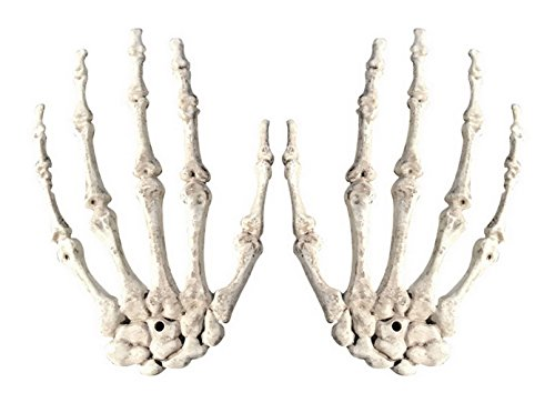 en Deko Skelett-Hände Weiß (Skelette Halloween)