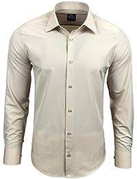 Rusty Neal Herren Einfarbig Hemd Business Hochzeit Slim Fit S bis 6XL 55 0ba469048f