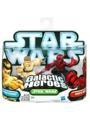 Star Wars Galactic Heroes Action Figures - Obi-Wan Kenobi and Darth Maul