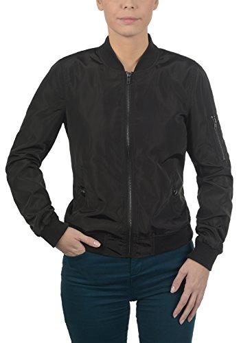 DESIRES Temari Damen Bomberjacke Übergangsjacke Jacke mit Stehkragen, Größe:XS, Farbe:Black (9000) - 2