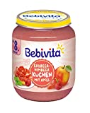 Bebivita Dessert Nach Art Erdbeer-Himbeer-Kuchen mit Apfel, 6er Pack (6 x 160 g)