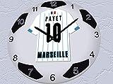 FanPlastic UEFA Champions League Grande Horloge Football-Toutes Les équipes de Football Horloge Conception de Base. - Olympique Marseille...