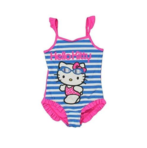 Hello Kitty Badeanzug Kollektion 2018 Badesachen 92 98 104 110 116 122 128 Mädchen Schwimmbekleidung Sommer (Blau, 128-134)