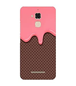 Takkloo chocholate background brown waffer pattern,delicious pattern, nice pattern) Printed Designer Back Case Cover for Asus Zenfone 3 Max ZC520TL (5.2 Inches)