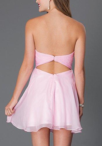 Bridal_Mall - Robe - Trapèze - Sans Manche - Femme turquoise Türkis 34 Rose