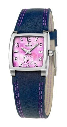 Festina f16181/G Quartz Ladies Watch - Strap, Blue and Purple