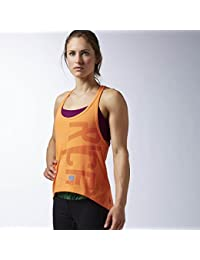 Reebok Womens Crossfit Performance Muscle Tank In Electric Peach