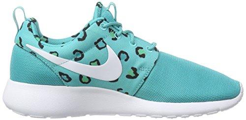 Nike - Roshe Run Print, scarpe da ginnastica da donna Turchese (Türkis (lite retro/white-artisan teal))