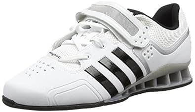 Adidas Adipower, Unisex-Erwachsene Hallenschuhe, Weiß (White/Core Black), 48 EU