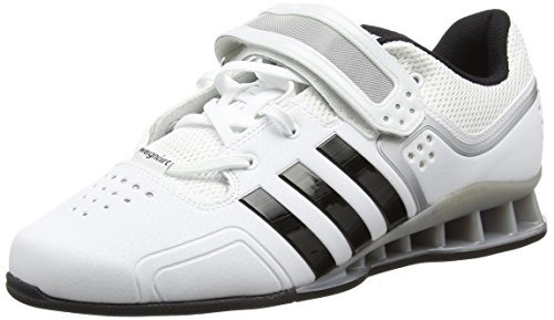 Adidas - Adipower, Zapatillas Deportivas para Interior Unisex adulto, Blanco (White/Core Black), 42 2/3 EU
