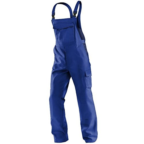 Kübler zweifarbige Latzhose 100% Baumwolle zweifarbig, Farbe:kornblau/marine;Größe:52