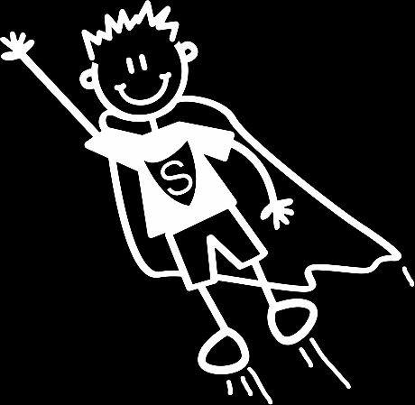 Auto-Aufkleber ~ Aufkleber ~ 'My Family' ~Junge boy ein Superheld ()
