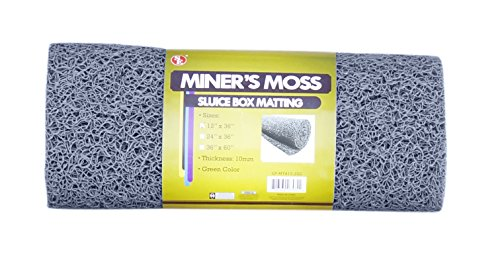 SE GP-MT415-1GR 12 x 36 Miner's Moss (Sluice Box Matting) in Grey by SE