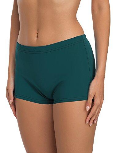 Merry Style Damen Badeshorts Bikinihose Modell L23L1 (Dunkelgrün (70031), 58) -