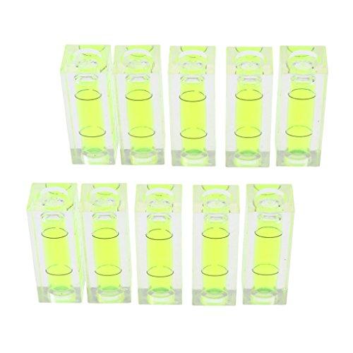B Blesiya 10er Pack Acryl Wasserwaage Mini Richtwaage Messgeräte Präzisionsmessung -Grünfarbig