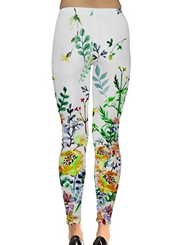 CowCow - Legging - Femme Black and Neon - White Watercolors