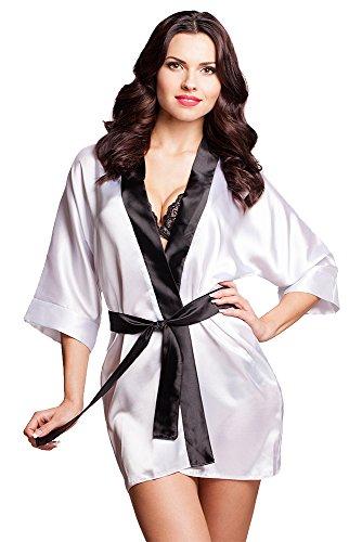 VA-Fashion - Vestaglia -  donna Bianco-nero