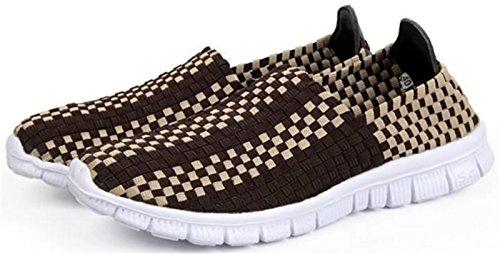 DADAWEN Chaussures de Course pour Mixte Adulte marron foncé