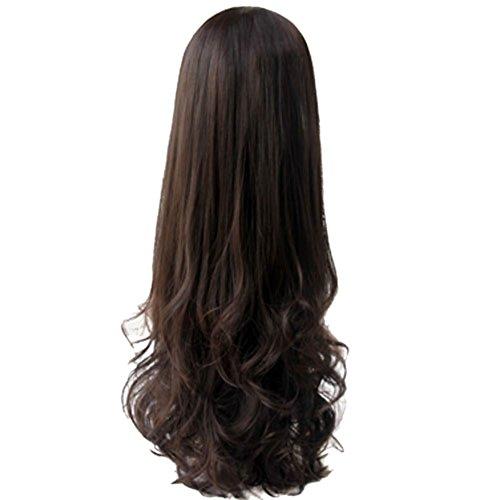 ETOSELL Femmes Ondules Boucles Cheveux D'Extension De Cheveux (Brun Fonce)