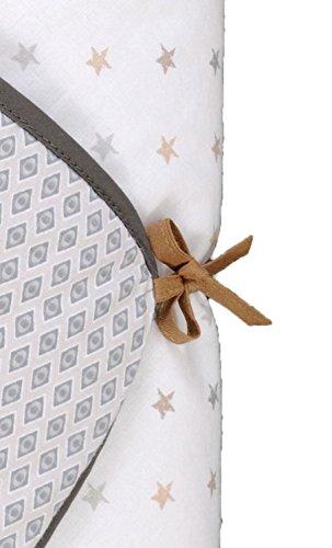 P 'tit Basile–Schlafsack Babydecke Pucksack–Einschlagdecke Multi usage- 76x 76cm–0–3Monate–Baumwolle aus biologischem Anbau–Collection Unisex Little Sweet Dreams