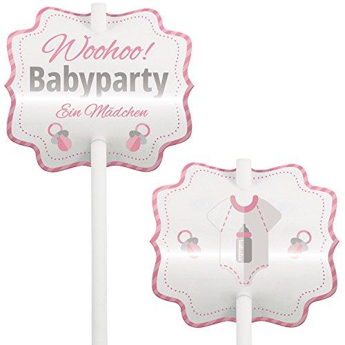 Baby Shower, Babyparty, Kuchen, Kucheneinstecker, Cupcake Deko, Muffin Deko, Cake-Pops, Einstecker, 12 Stück, mädchen, - Cake Baby Shower Pops