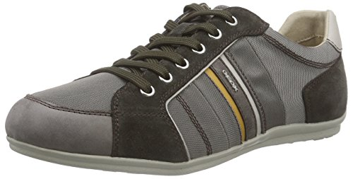 Geox Herren U Houston A Low-Top Grau (DOVE GREY/MUDC1556)